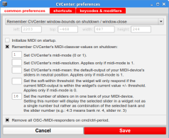 CVCenterPreferences: common settings