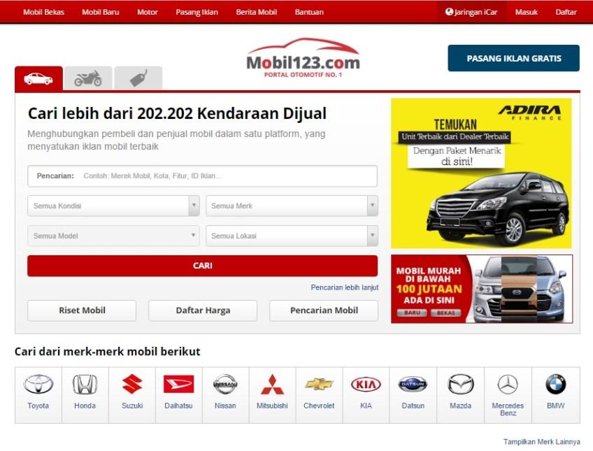 Pilah Pilih Kendaraan Di Mobil123