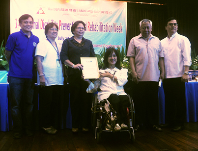 DILG Awardees pose together with PWAG, NCC and NCDA Officials.