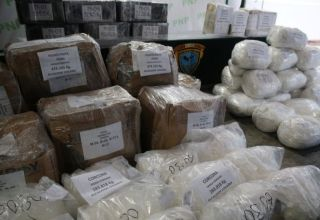 Peruvian police display to the press more than two tonnes of cocaine at the police headquarters in Lima, Peru, June 14, 2017. REUTERS/Guadalupe Pardo