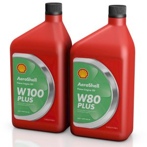 Aero Shell Oil W100 Plus and W80 Plus