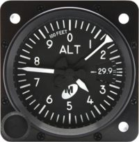 MD15-322 altimeter, avionic instrument,mid-continent instruments near toronto yyz