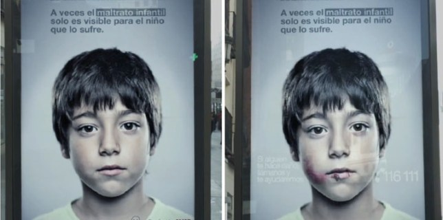 An Ad with a Secret Message Only Children Can See