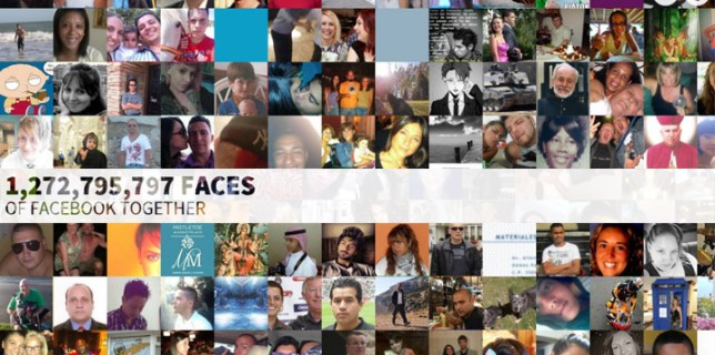 The Faces of Facebook 1.2 Billion Facebook Members in One Place