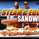Arnold Schwarzenegger Giant Steak And Egger Sandwich