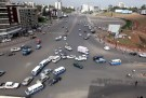 Crazy Traffic In Addis Ababa At Meskel Square