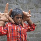 Indian Boy With Gigantic Hands