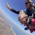 Great-Grandma Skydives And Swims With Sharks