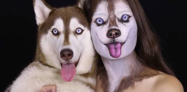 Siberian Husky Makeup