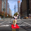 Man Takes Aladdin's Magic Carpet for a Ride in New York City