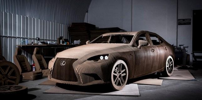 Full Scale Cardboard Lexus Car