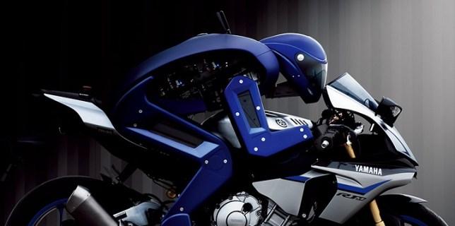 Yamaha Motobot Rides Motorcycle