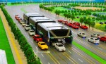 Elevated Bus Designed to Drive Over Traffic Jams