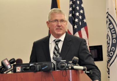 In a 45-minute briefing with reporters, Mecklenburg District Attorney Andrew Murray outlined evidence explaining why his office declined to press criminal charges in the case of a Charlotte-Mecklenburg police officer who shot and killed Keith Lamont Scott, November 30, 2016. (Photo: Glenn H. Burkins)