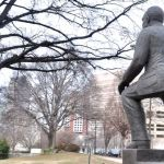 Martin Luther King Jr. statue in Marshall Park in uptown Charlotte. (Photo: Qcitymetro)