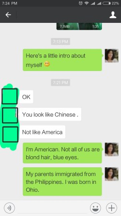 You don't look American