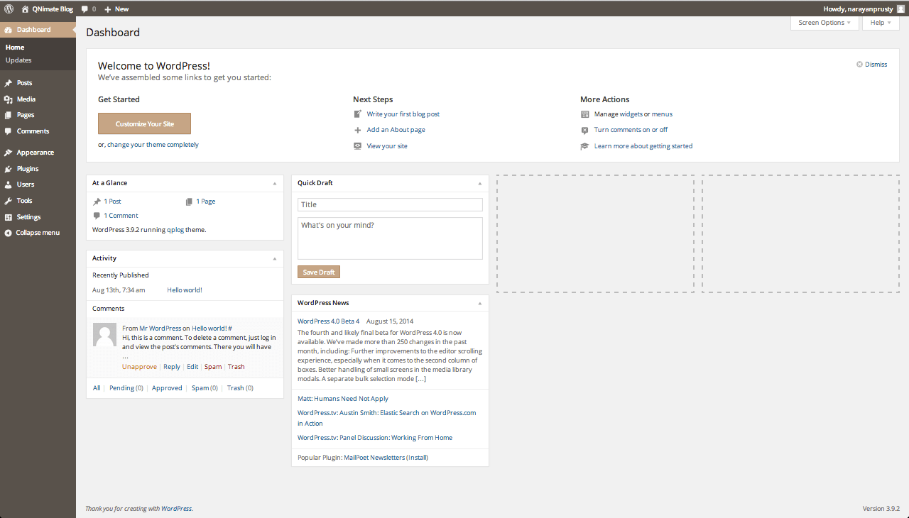 thesis change footer text