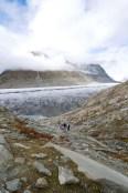 Abstieg hinunter zum Gletscher