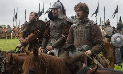 "(L-R) Benedict Wong, Uli Latukefu and Lorenzo Richelmy in a scene from Netflix's ""Marco Polo."" Photo Credit: Phil Bray for Netflix.  EP8"