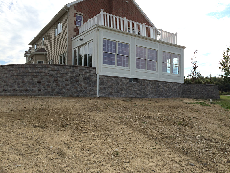 brick pavers and retaining wall erie county