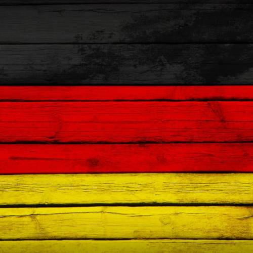 Germany flag painted on wooden boards. Grunge style