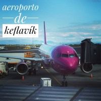 O aeroporto de Keflavík na Islândia