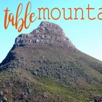 Table Mountain, o cartão-postal da cidade e arredores