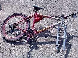 image of broken bike