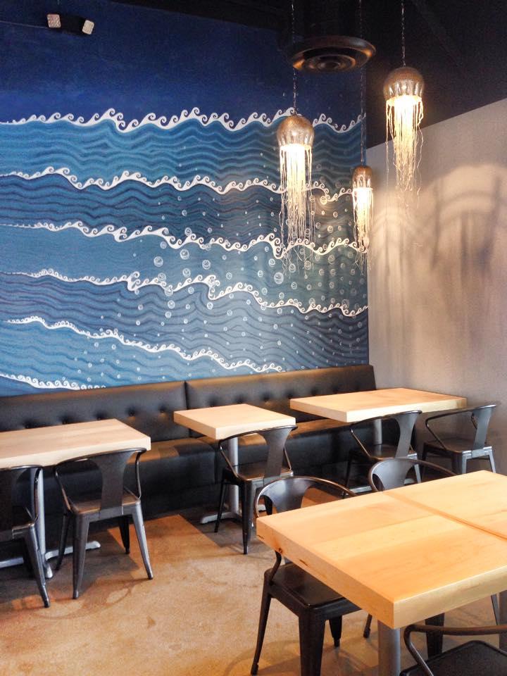 Ocean Lounge detail of mural at Scottsdale.