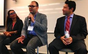 Desde la izquierda, la doctora Silvia Mazzula, Autuan Santana y René Herrera.