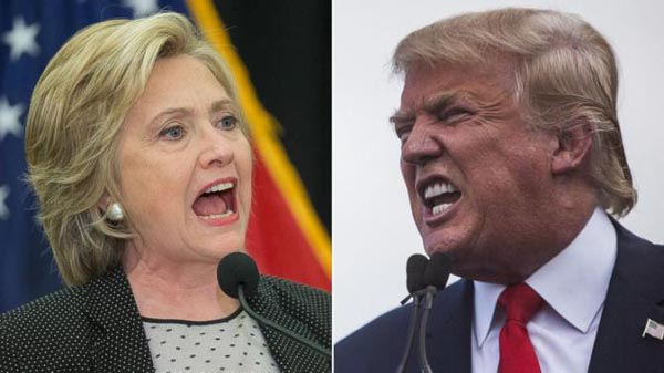 Clinton supera a Trump por 12 puntos