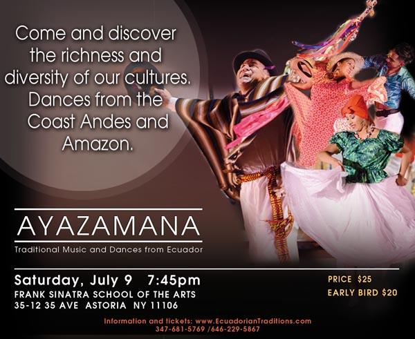 Ayazamana at Frank Sinatra School of the Arts this Saturday July 9