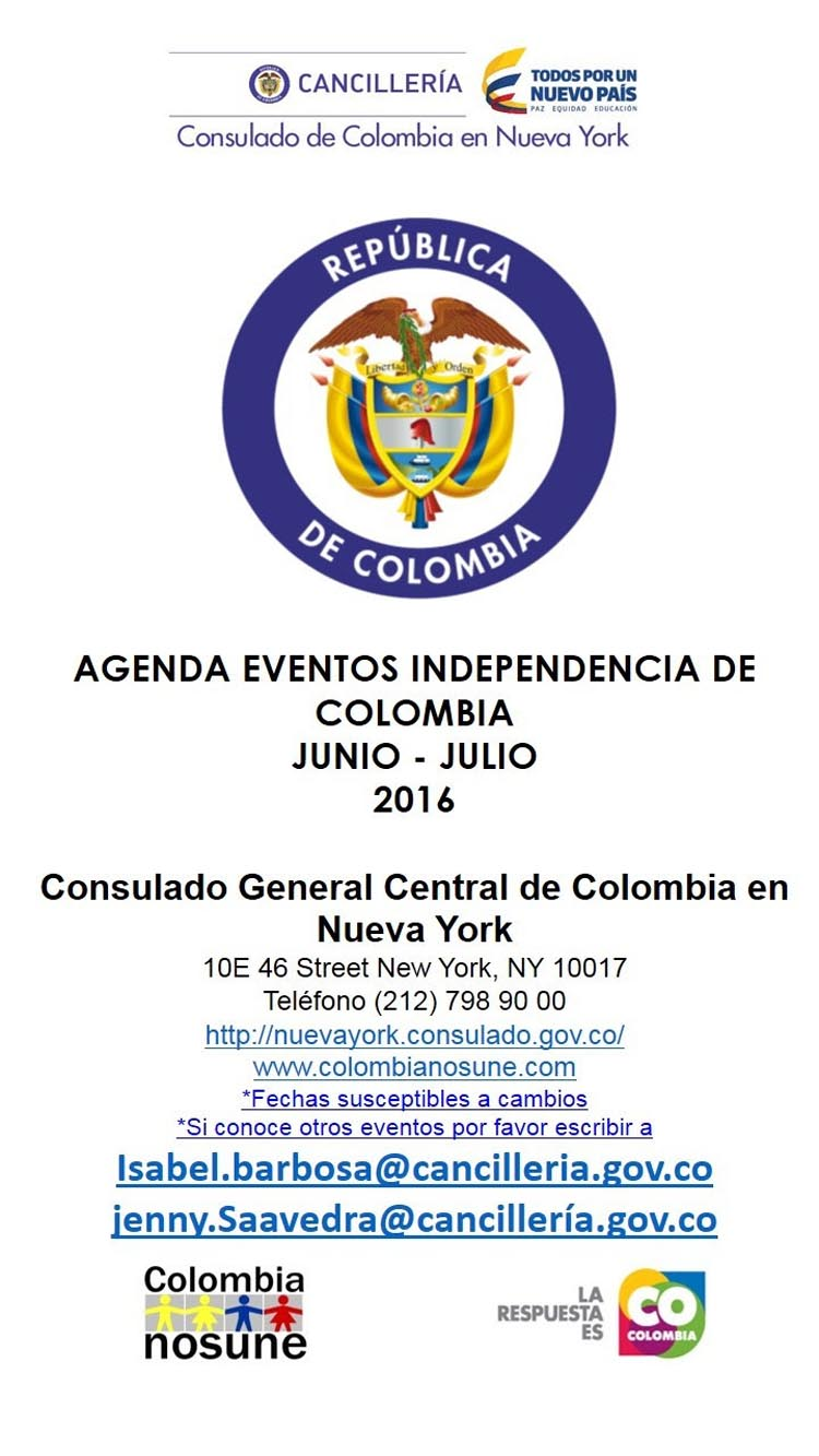 Independencia de Colombia 2016 a