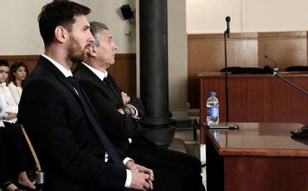 Messi y su padre Jorge condenados a 21 meses de cárcel