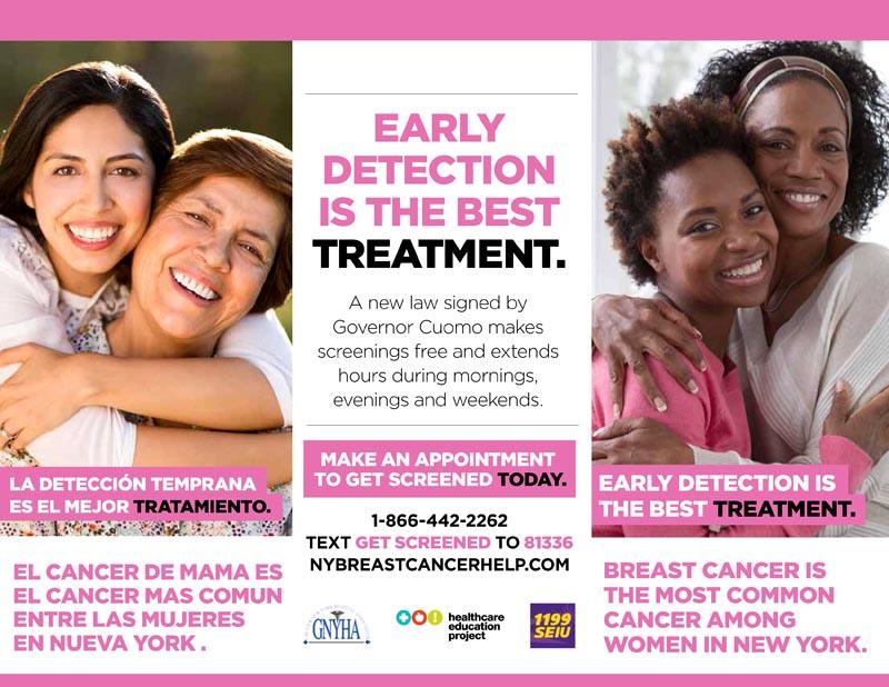 Hágase el examen de cáncer de mama sin costo alguno