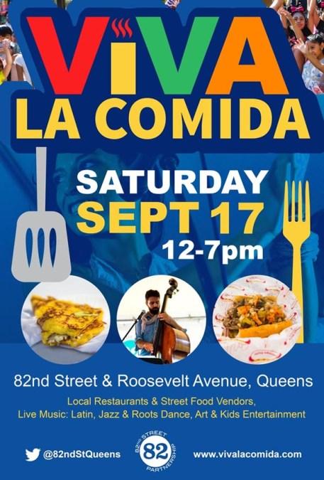 Viva la Comida es el 17 de septiembre en la calle 82 de Jackson Heights