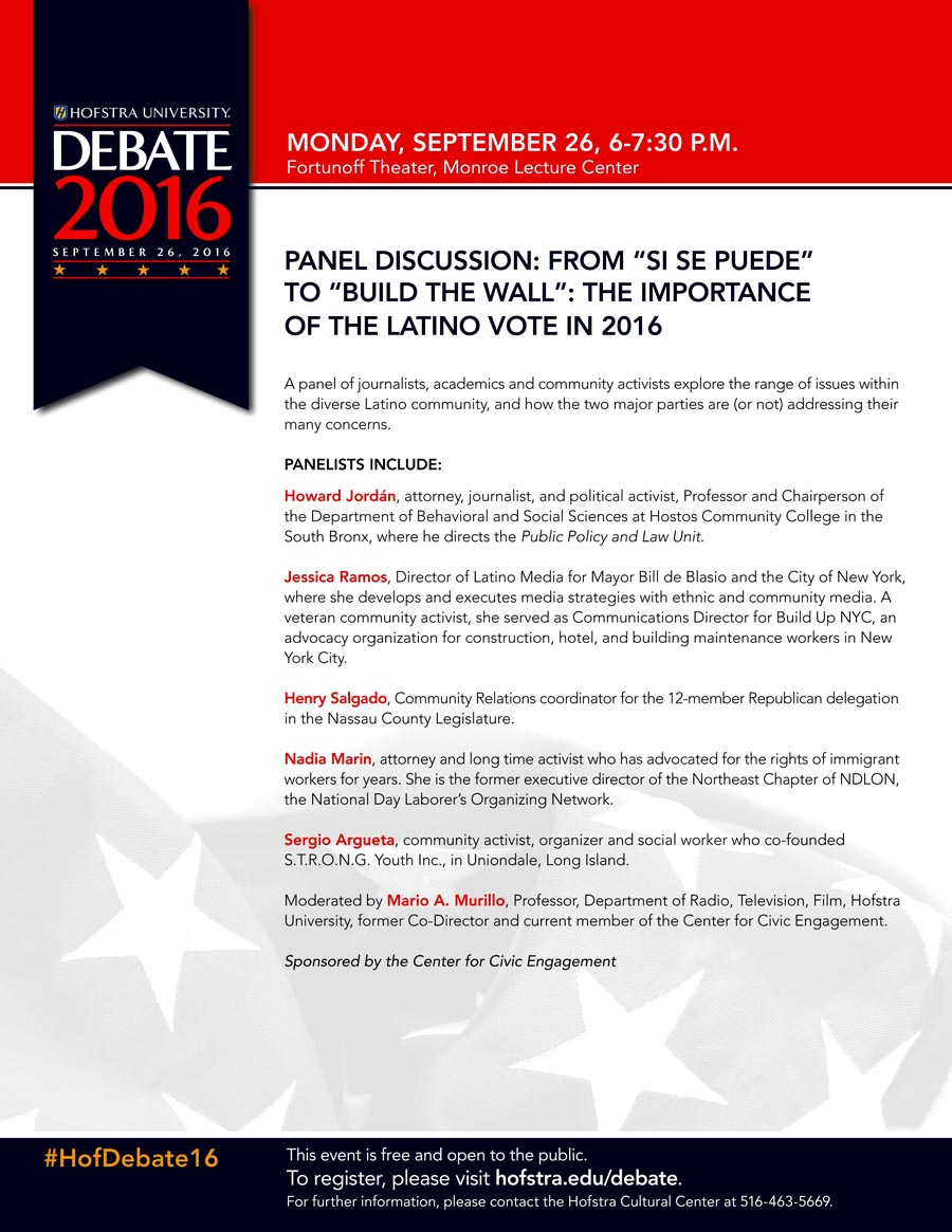 Hufstra Latino Vote Debate 2016
