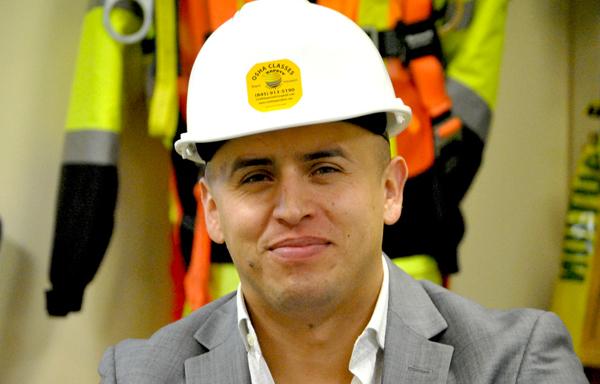José Castellanos salva vidas en el terreno de la construcción