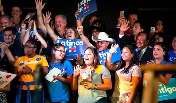 Hillary Clinton con el 68% del voto latino