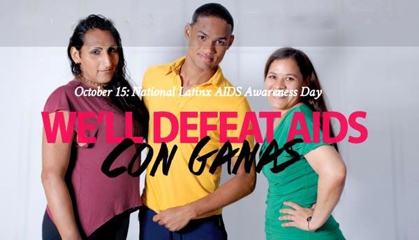 Latinos quieren derrotar el SIDA con ganas