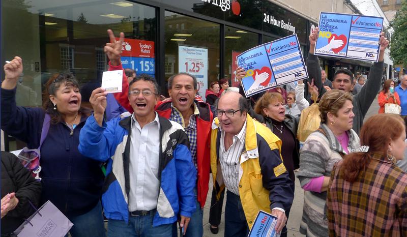 Gana el No en Colombia y Queens
