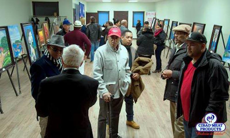 Pinceladas dominicanas en la sede del Comisionado Dominicano de Cultura de NY. Foto cortesía