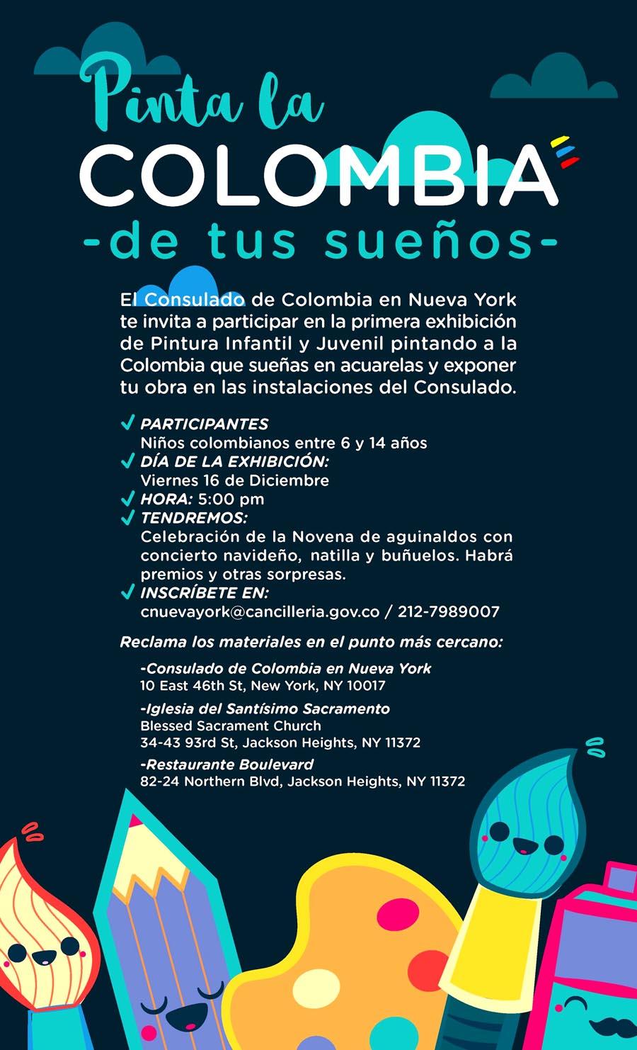 Consulado Colombia concurso de pintura infantil