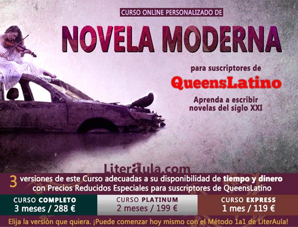 Curso de Novela Moderna para suscriptores de Queens Latino