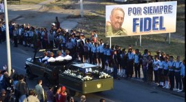 Restos de Fidel Castro inhumados en Santa Efigenia