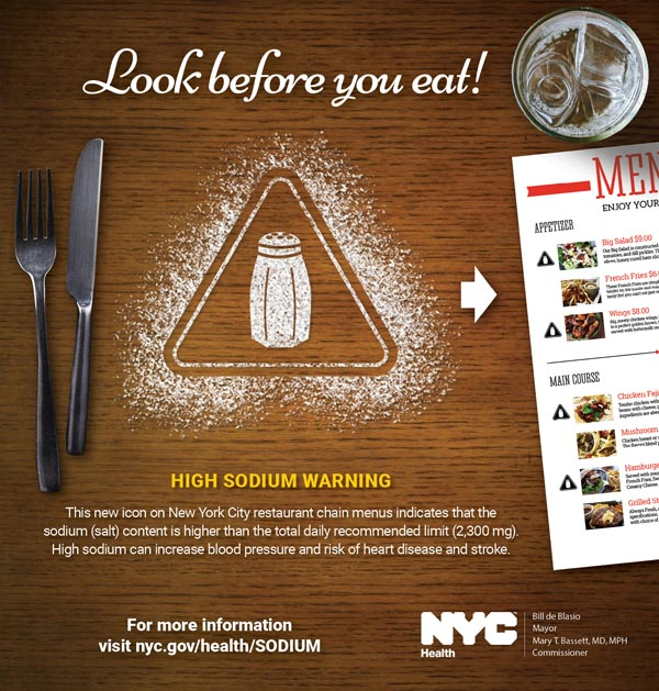 NYC Health Department Launches Sodium Campaign 'Look Before You Eat'