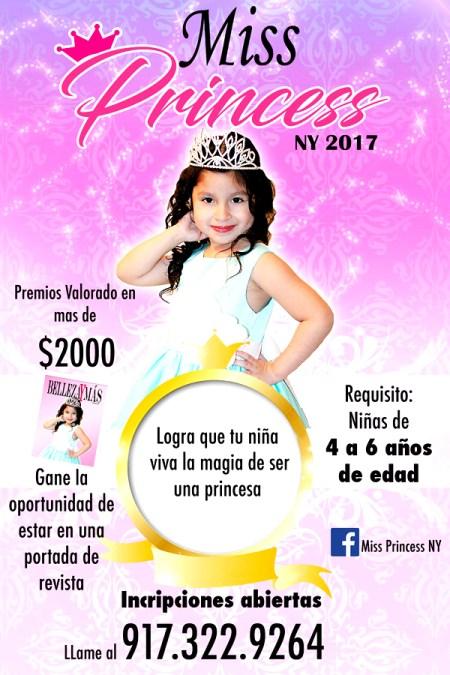 Miss Princess NY 2017 abre inscripciones para niñas de 4 a 6 años