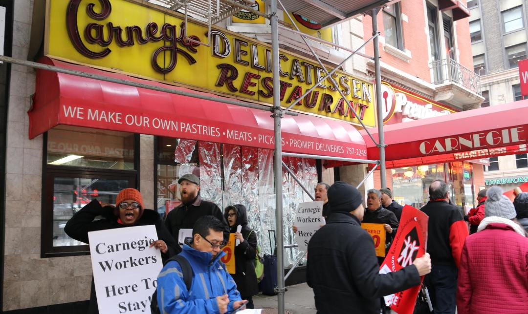 Carnegie Deli Workers Filed Federal Charges against Carnegie Deli