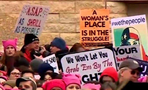 Casi un millón de personas acuden a la Marcha de las Mujeres en Washington