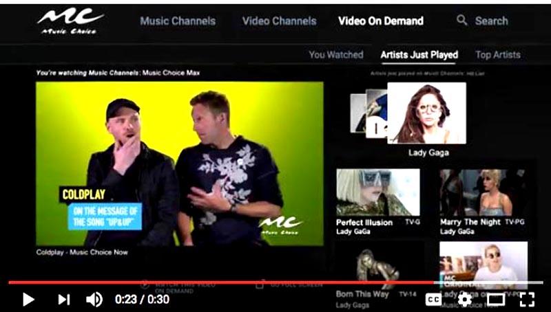 La nueva configuración digital de New Music Choice que ofrece RCN.